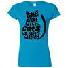 Image of Time Spent With Cats Is Never Wasted G640L Gildan Softstyle Ladies' T-Shirt