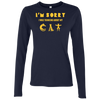 Image of Cat Tee Shirts Ladies' Softstyle 4.5 oz. LS T-Shirt