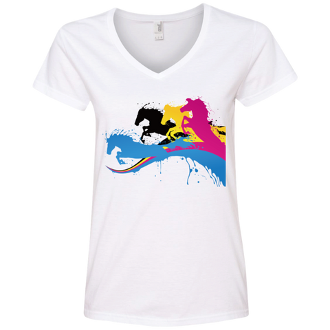 Amazing Horse Shirt 88VL Anvil Ladies' V-Neck T-Shirt
