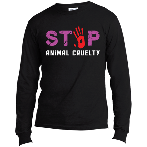 Stop Animal Cruelty USA100LS Port & Co. LS Made in the US T-Shirt