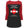 Image of Cat Lady DT2700 District Juniors' Rally 3/4 Sleeve T-Shirt