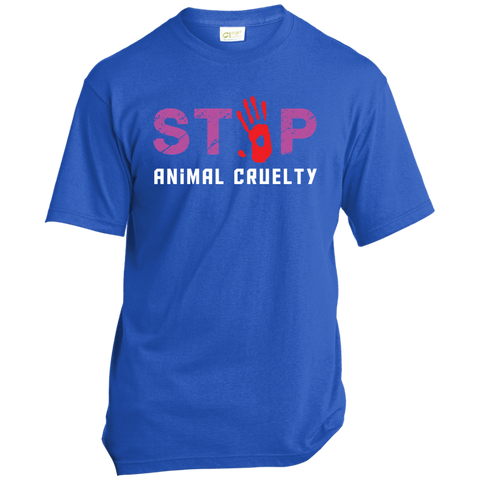Stop Animal Cruelty USA100 Port & Co. Made in the USA Unisex T-Shirt