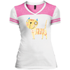 Image of Cute Kitty Shirts DT264 District Junior's Varsity V-Neck T-Shirt