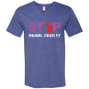 Image of Stop Animal Cruelty 982 Anvil Men's Printed V-Neck T-Shirt