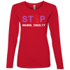 Image of Stop Animal Cruelty 884L Anvil Ladies' Lightweight LS T-Shirt
