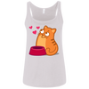 Image of Cute Cat Shirts For Sale 6488 Bella + Canvas Ladies' Relaxed Jersey Tank