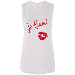 Je t'aime B8803 Bella + Canvas Ladies' Flowy Muscle Tank