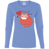 Image of Love Cat Shirt G540L Gildan Ladies' Cotton LS T-Shirt
