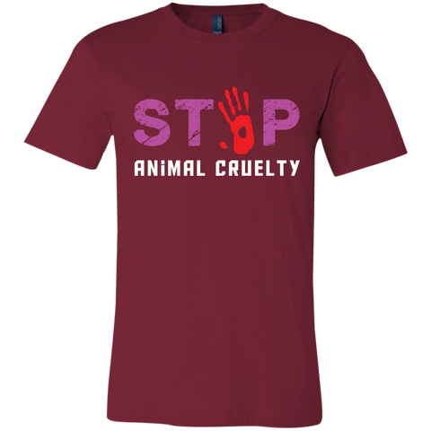 Stop Animal Cruelty 3001C Bella + Canvas Unisex Jersey Short-Sleeve T-Shirt