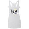 Image of Let's Go Travel The World T-Shirt NL6733 Next Level Ladies' Triblend Racerback Tank