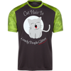 Image of Funny Cat Shirts For Guys Colorblock T-Shirt