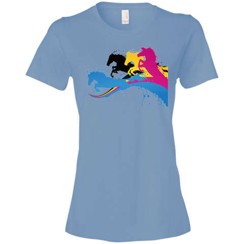 Amazing Horse Shirt 880 Anvil Ladies' Lightweight T-Shirt 4.5 oz