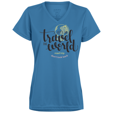 Let's Go Travel The World T-Shirt 1790 Augusta Ladies' Wicking T-Shirt