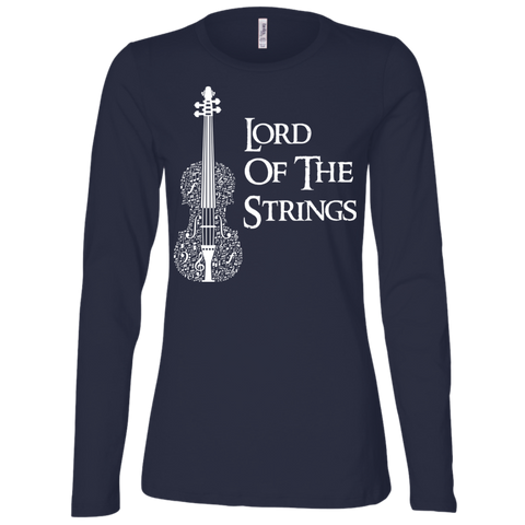 Lord Of The Strings T-Shirt B6450 Bella + Canvas Ladies' Jersey LS Missy Fit