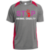 Image of Stop Animal Cruelty ST361 Sport-Tek Heather Colorblock Poly T-Shirt