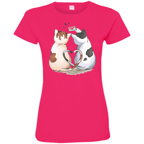 Cool Cat Shirts 3516 LAT Ladies' Fine Jersey T-Shirt