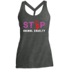 Image of Stop Animal Cruelty DM466 District Made Ladies Cosmic Twist Back Tank