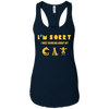 Image of Cat T-Shirt NL1533 Next Level Ladies Ideal Racerback Tank