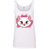Image of White Cat Shirt 882L Anvil Ladies' 100% Ringspun Cotton Tank Top