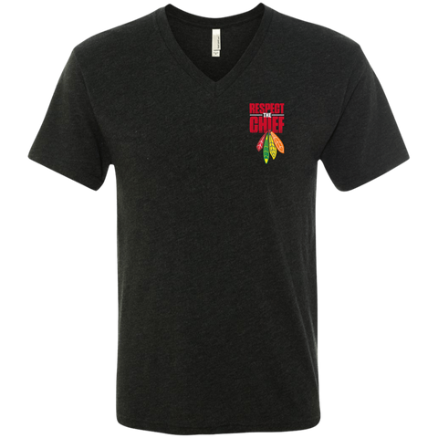 Respect The Chief NL6040 Next Level Men's Triblend V-Neck T-Shirt