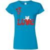 Image of I Love My Cat Shirt G640L Gildan Softstyle Ladies' T-Shirt