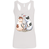 Image of Cool Cat Shirts G645RL Gildan Ladies' Softstyle Racerback Tank