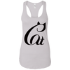 Image of Black And White Cat Shirt NL1533 Next Level Ladies Ideal Racerback Tank