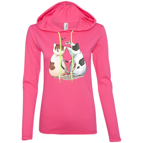 Cool Cat Shirts 887L Anvil Ladies' LS T-Shirt Hoodie
