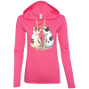 Image of Cool Cat Shirts 887L Anvil Ladies' LS T-Shirt Hoodie