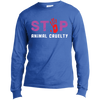 Image of Stop Animal Cruelty USA100LS Port & Co. LS Made in the US T-Shirt