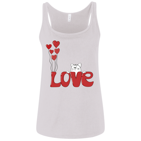 I Love My Cat Shirt 6488 Bella + Canvas Ladies' Relaxed Jersey Tank