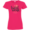 Image of Let's Go Travel The World T-Shirt 3516 LAT Ladies' Fine Jersey T-Shirt