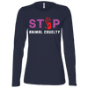Image of Stop Animal Cruelty B6450 Bella + Canvas Ladies' Jersey LS Missy Fit