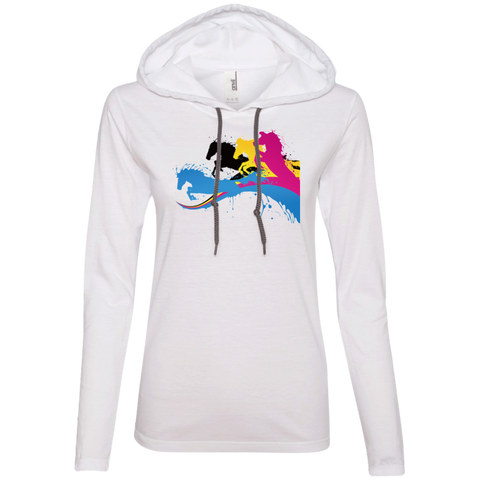 Amazing Horse Shirt 887L Anvil Ladies' LS T-Shirt Hoodie