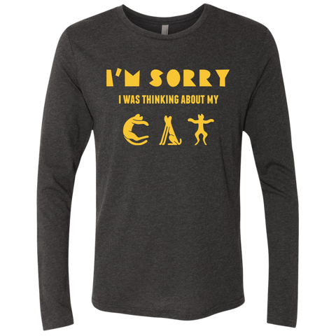 Tee Shirts For Cat Lovers Men's Triblend LS Crew