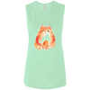 Image of T Shirts With Cats On B8803 Bella + Canvas Ladies' Flowy Muscle Tank