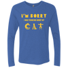 Image of Tee Shirts For Cat Lovers Men's Triblend LS Crew