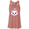 Image of White Cat Shirt B8800 Bella + Canvas Flowy Racerback Tank