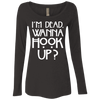 Image of American Horror Story NL6731 Next Level Ladies' Triblend LS Scoop
