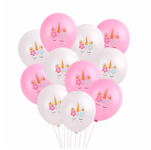 Pink and White Balloons Party Supplies (10 Pack)