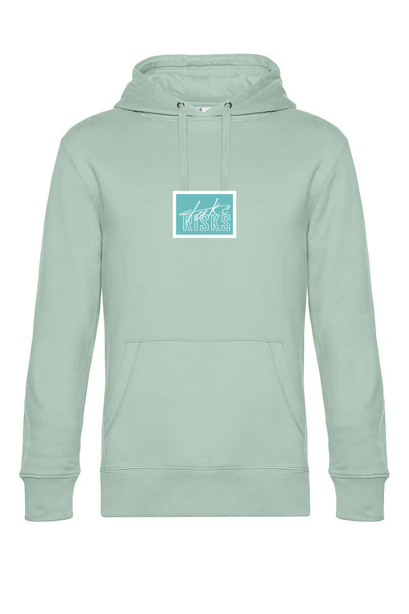 Take Risks Aqua Patch Hoodie