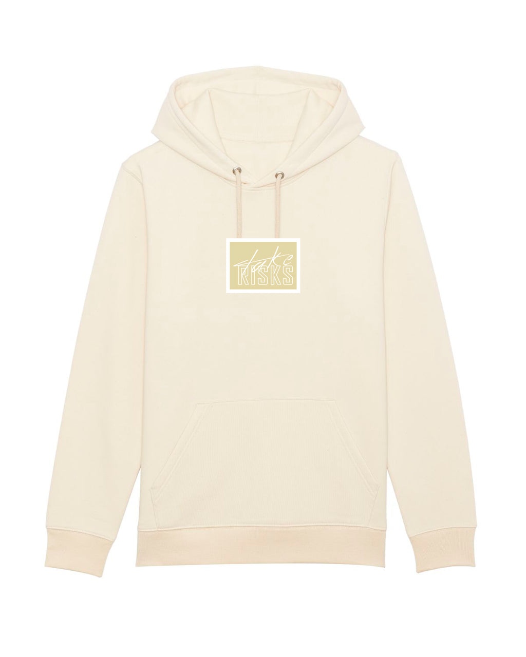 Take Risks Cream Patch Hoodie