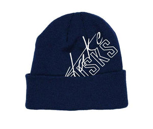 TAKE RISKS SIGNATURE BEANIE - NAVY