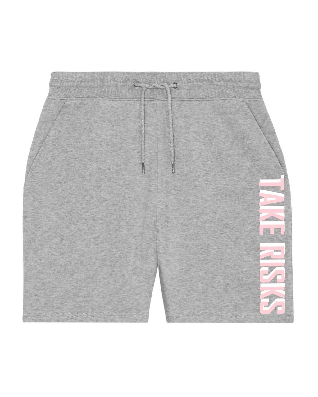 Take Risks Pink/Grey Statement Shorts