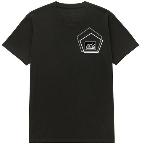 "Take Risks ""The Pentagon"" Oversized Black T-Shirt"