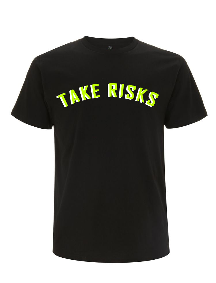 Take Risks (Black/Slime Green) Statement T-Shirt