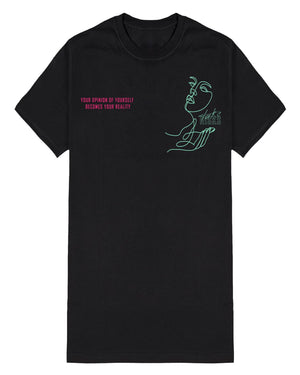 "Take Risks ""Your Reality"" T-Shirt (Black/Pink/Mint)"