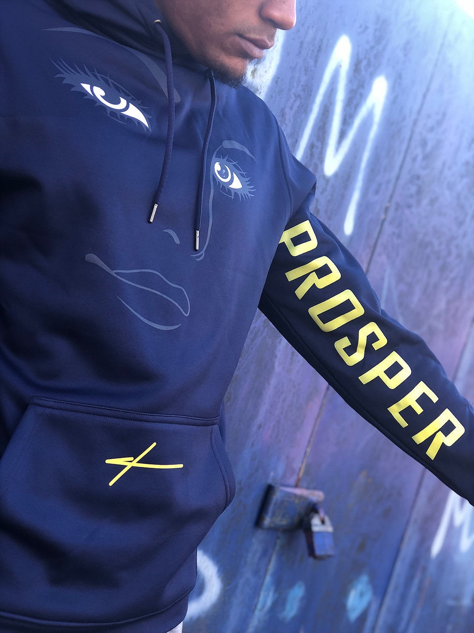 PROSPER | ALL EYES ON ME HOODIE - NAVY BLUE