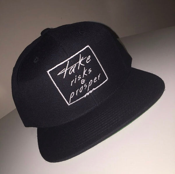 TAKE RISKS & PROSPER | CLASSIC SNAPBACK - BLACK