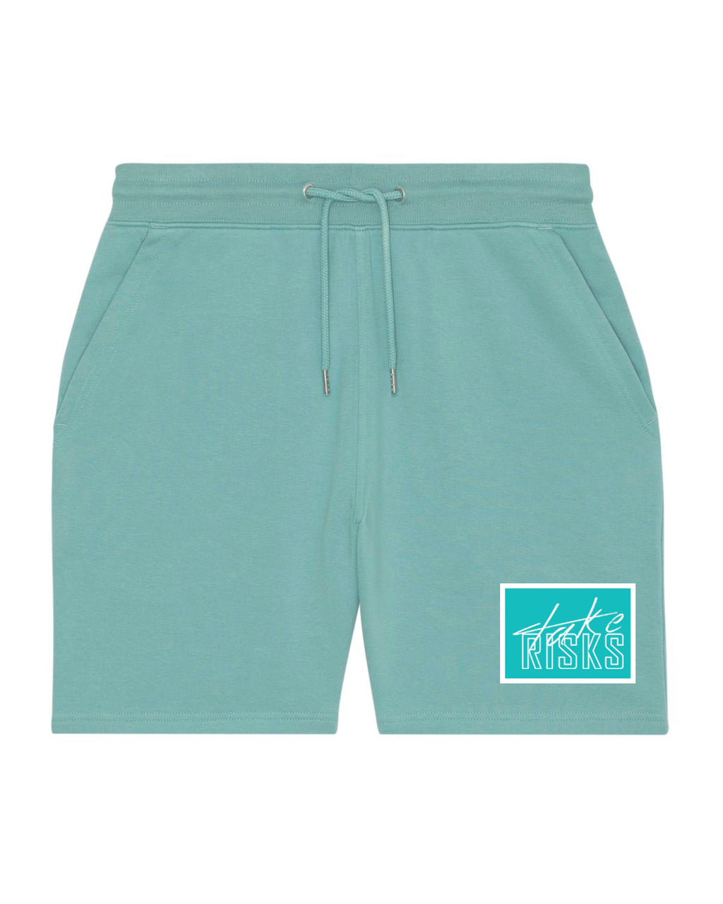 Take Risks Turq Patch Shorts